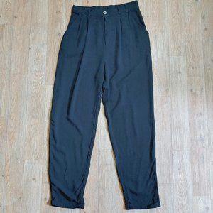 COTTON ON Black high waist pleated pants